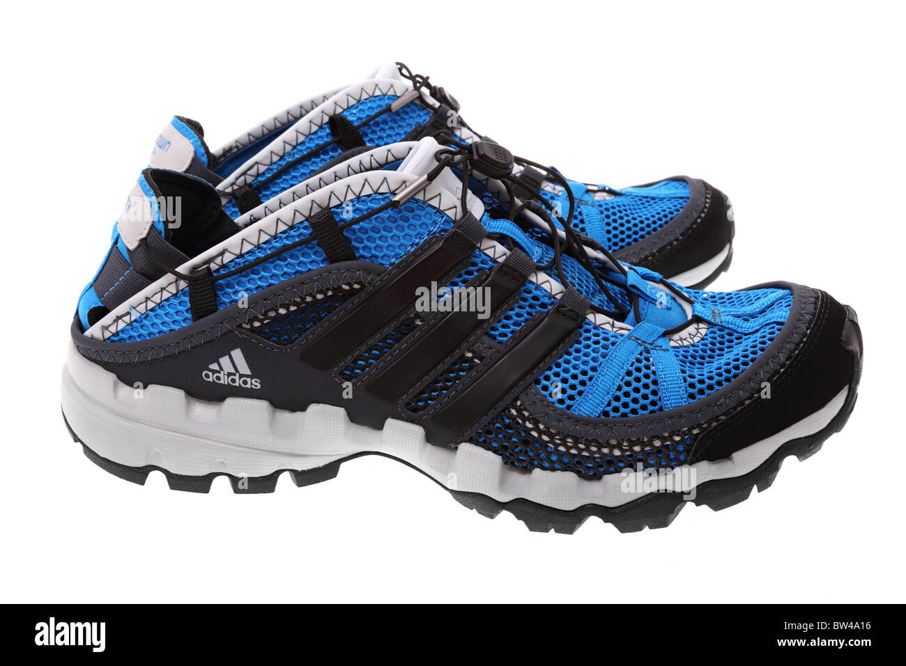 Adidas Hydroterra Shandal sport shoes isolated on a white background. Studio shot. - Stock Image