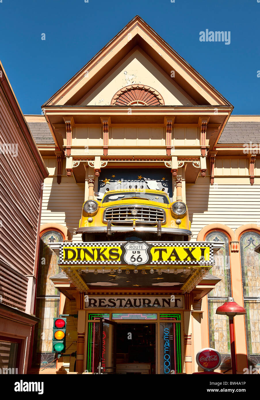 Route 66 Restaurant Bar Harbor Me Maine Usa Stock Photo