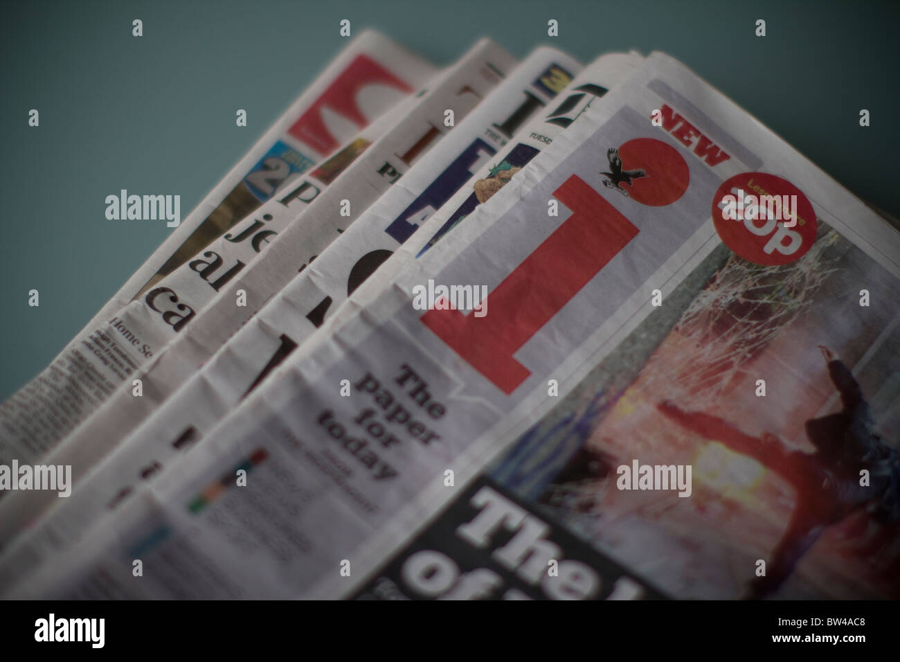 Daily UK tabloid newspaper, i independent, Stock Photo