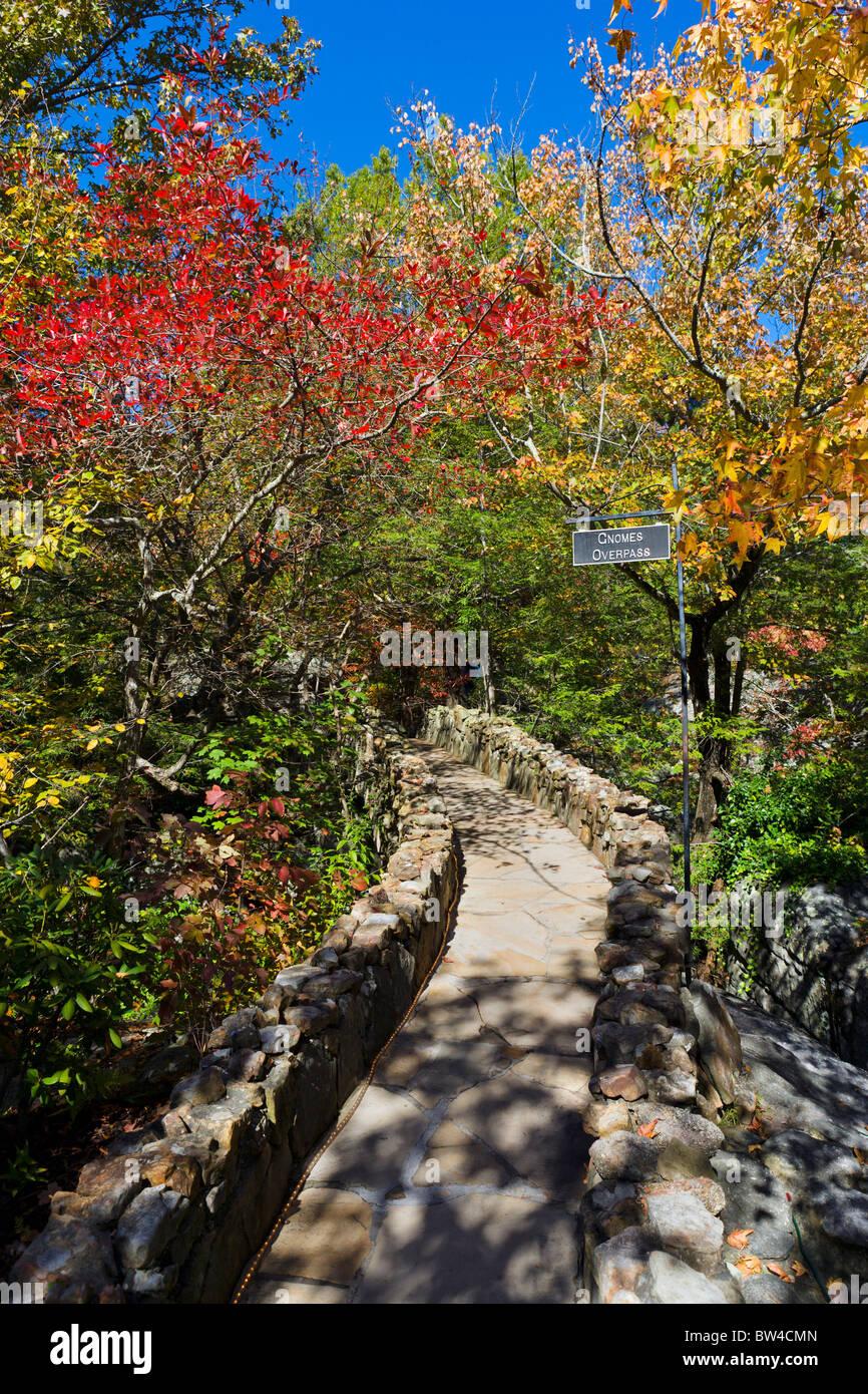 Fall foliage in Rock City Gardens on Lookout Mountain, Georgia, near ...