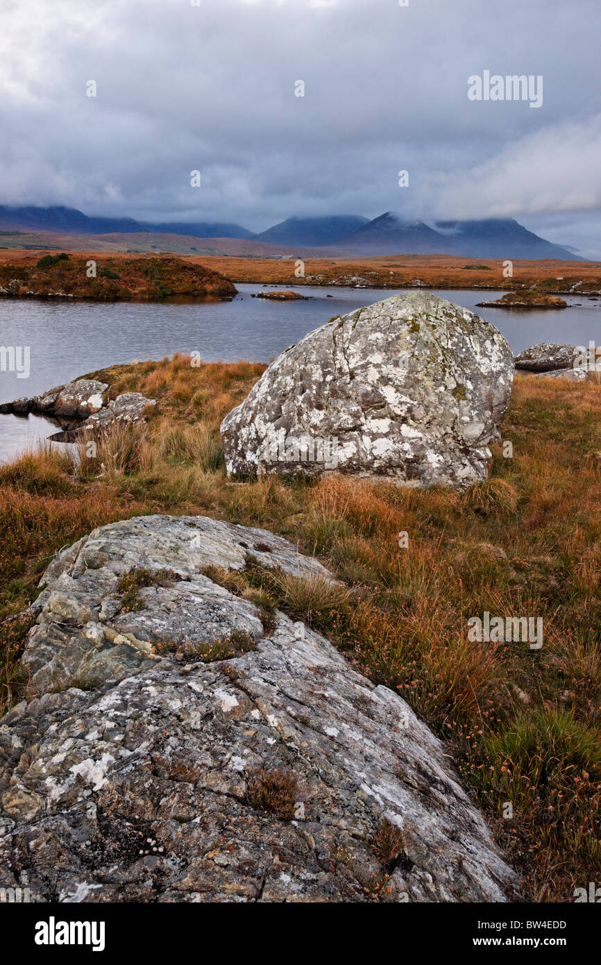 The Twelve Pins from Conga Lough, Connemara, County Galway, Connaught, Ireland. Stock Photo