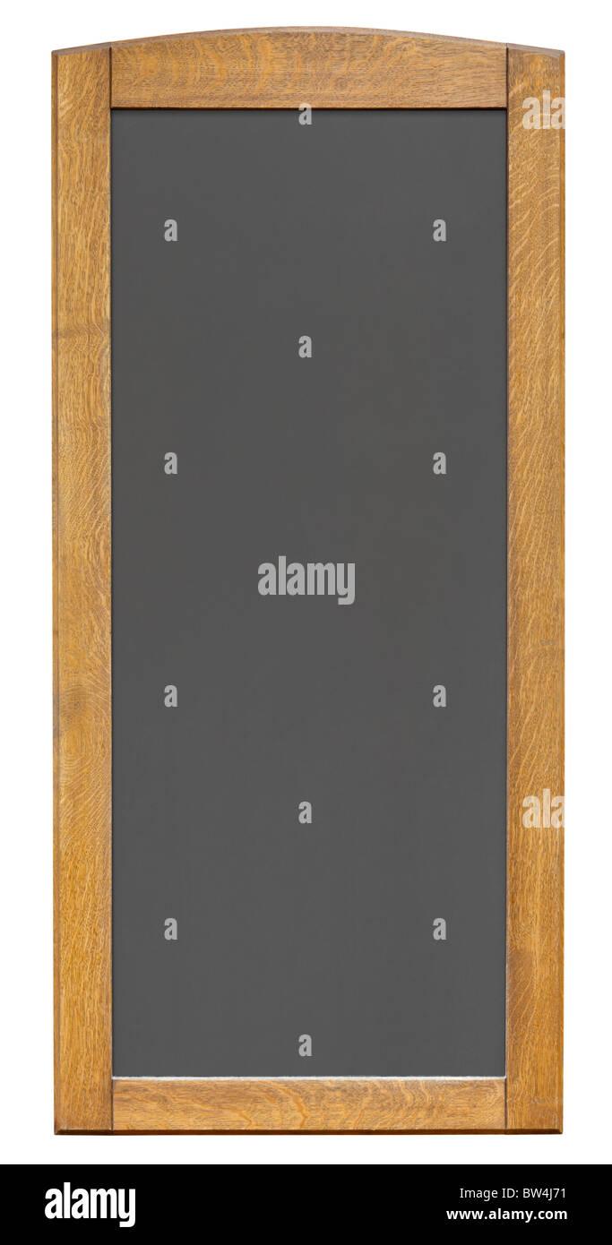 Empty notice board isolated on white background - Stock Image