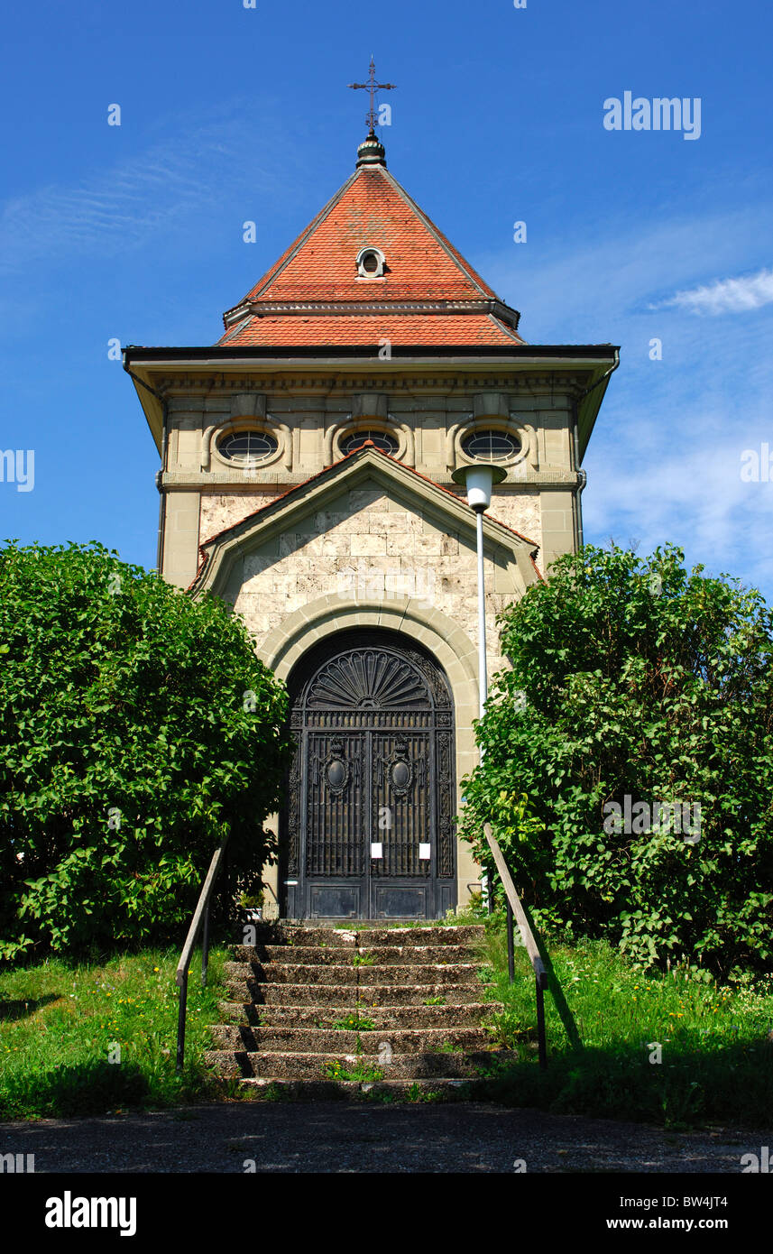 Chapel of the Sacred Heart on the St. James' Way in Posieux, canton of Fribourg, Switzerland - Stock Image