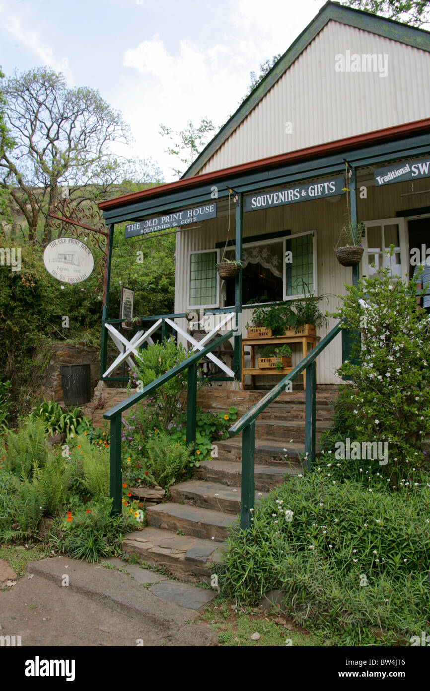 The Old Print House, Pilgrim's Rest, Mpumalanga, South Africa - Stock Image