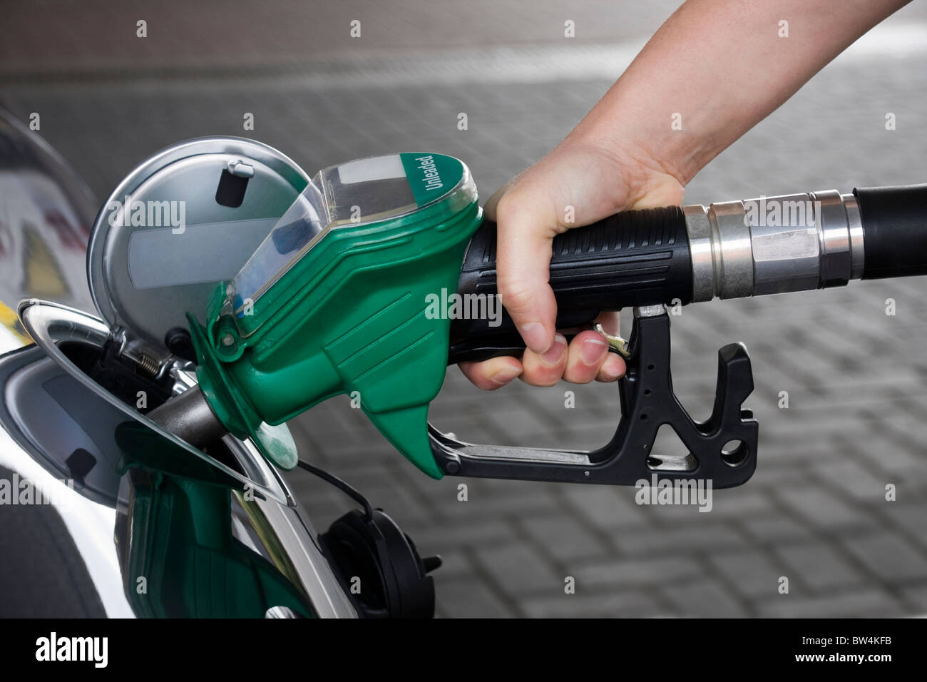 Rising fuel costs - Stock Image