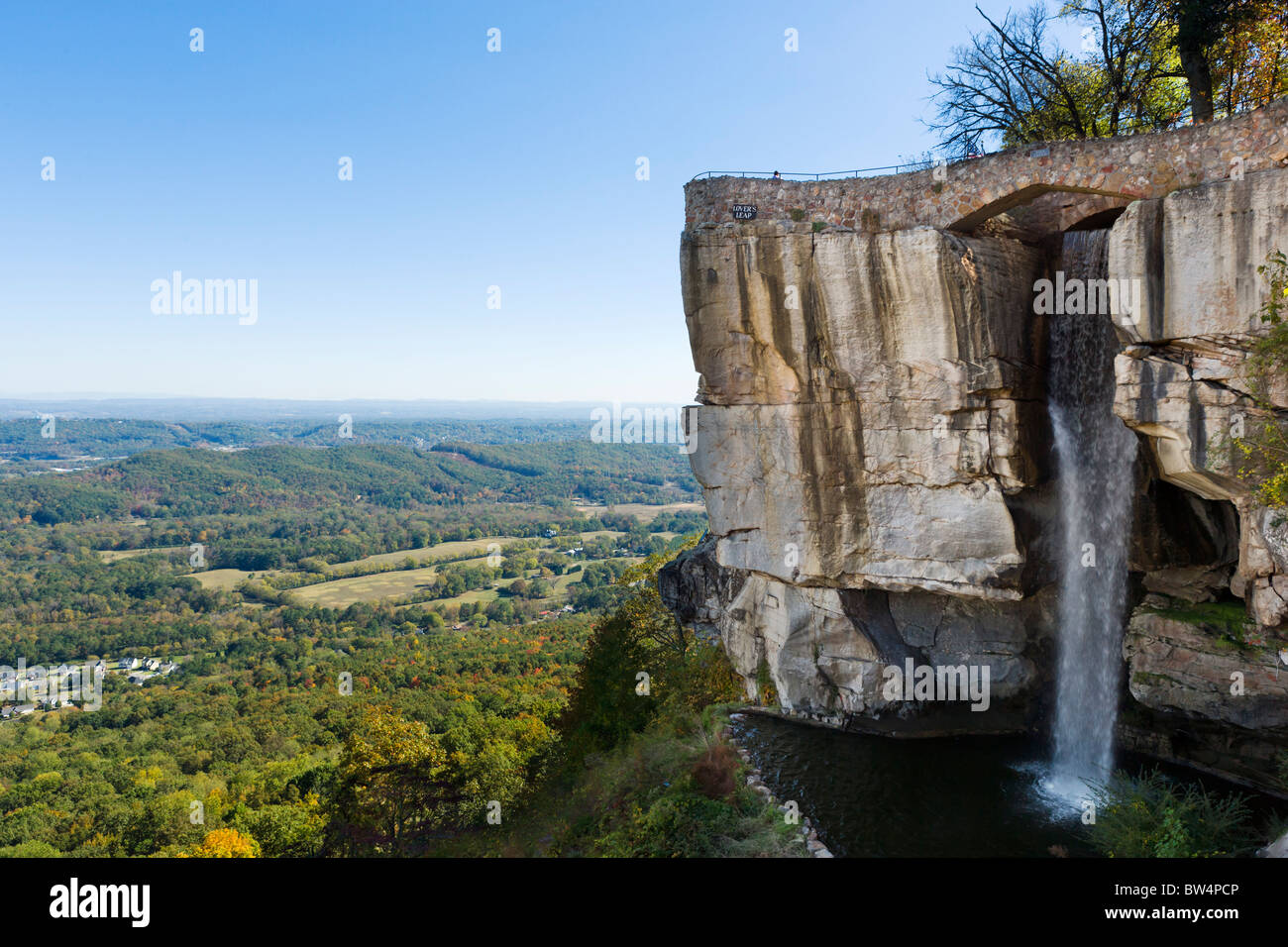 Lover's Leap in Rock City Gardens on Lookout Mountain, Georgia, near Chattanooga, Tennessee, USA - Stock Image
