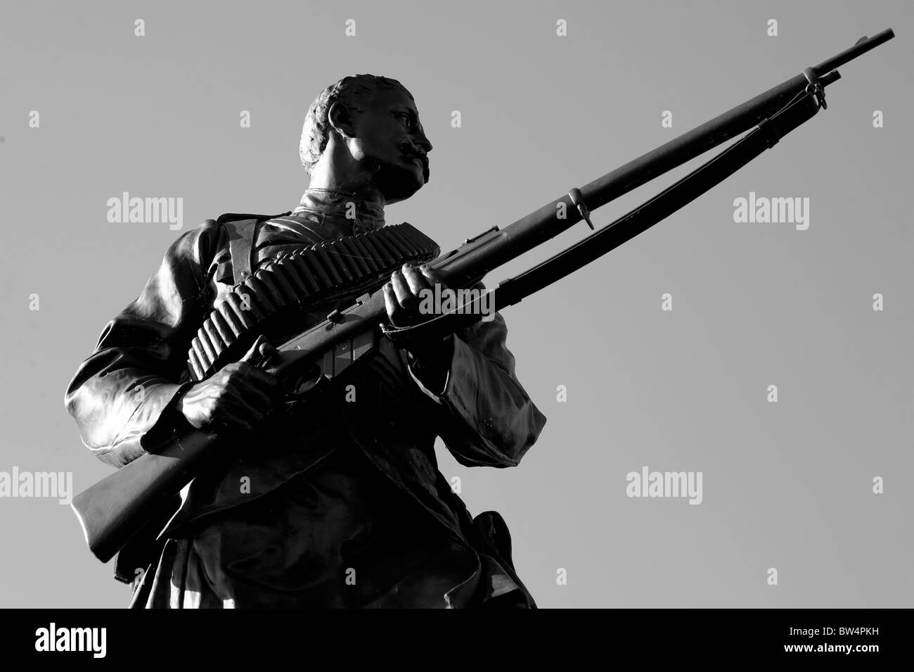 sculpture scottish scotalnd soldier highlander stirling - Stock Image