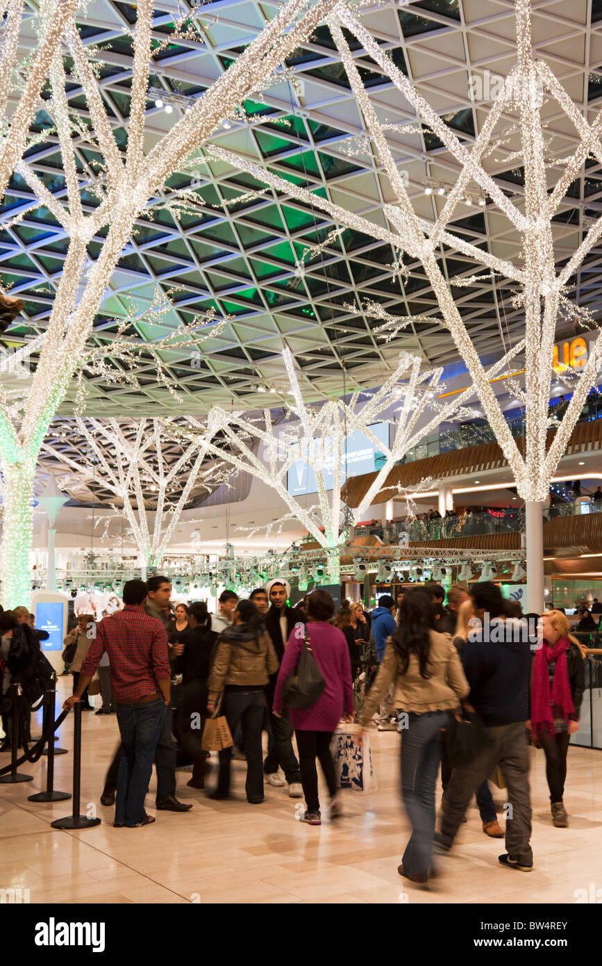 Central Atrium - Westfield Shopping Centre - Shepherd's Bush - London Stock Photo