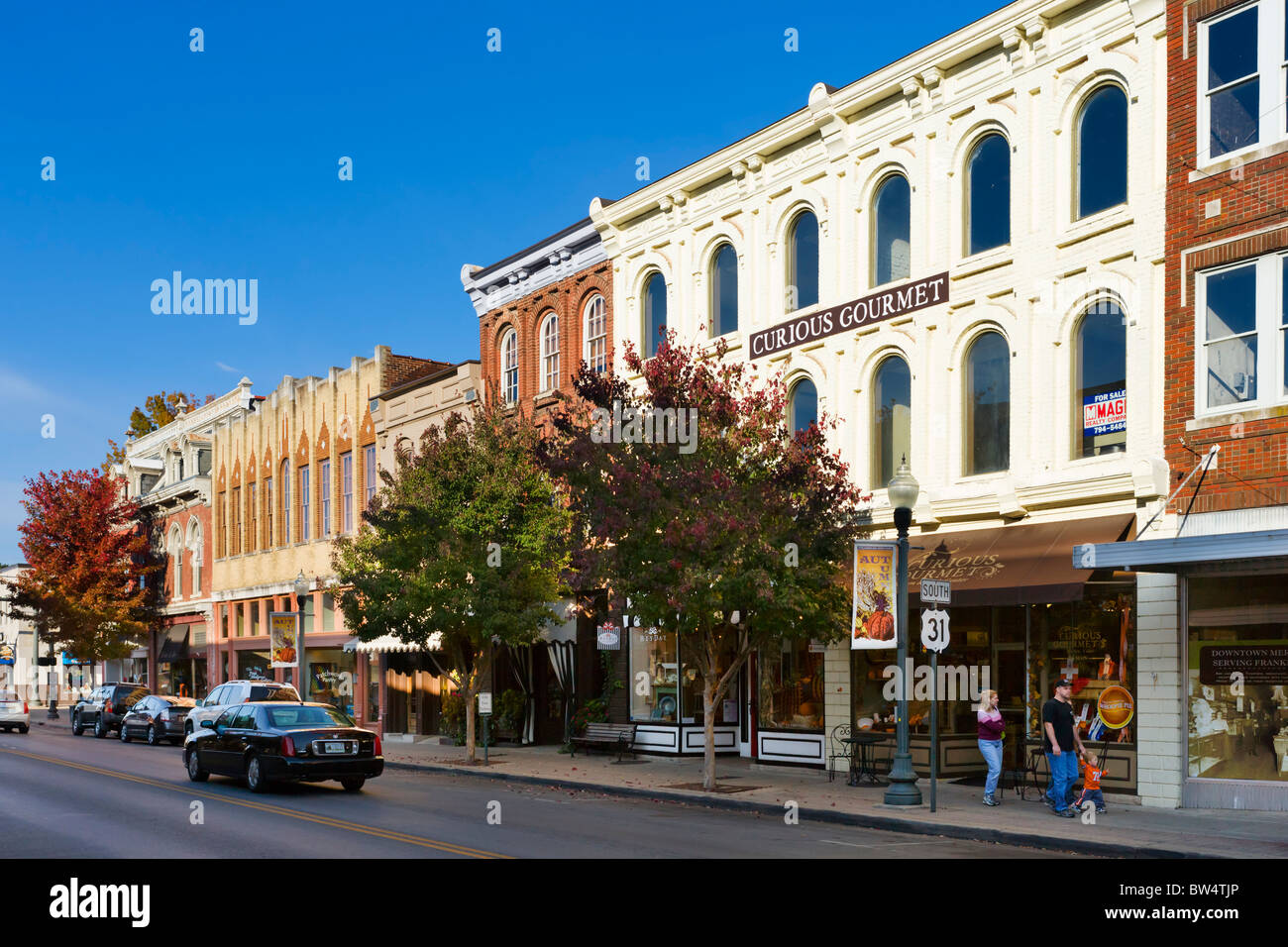 Downtown Franklin Tn >> Main Street In Historic Downtown Franklin Tennessee Usa