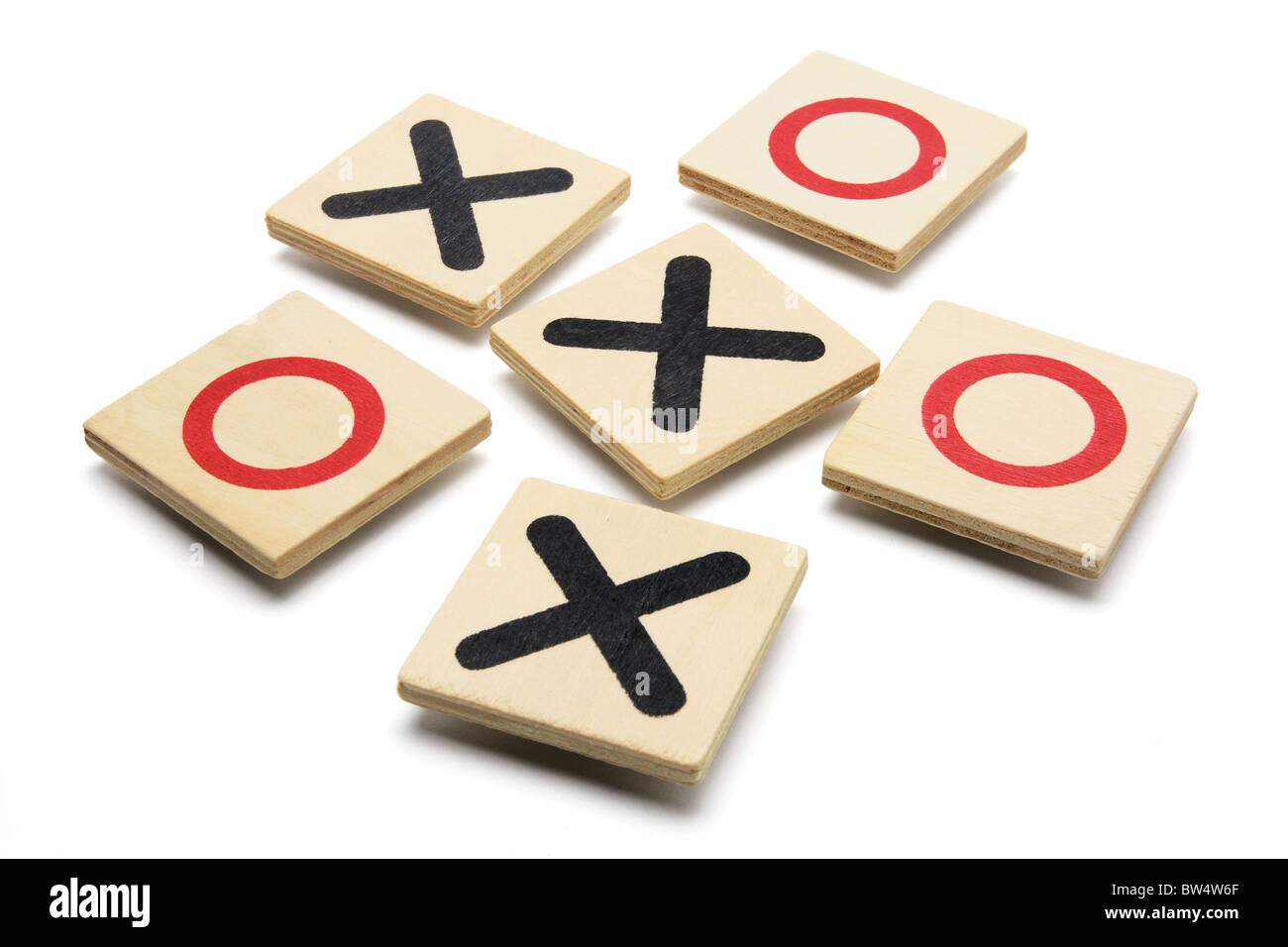 Tic-Tac-Toe Game Stock Photo