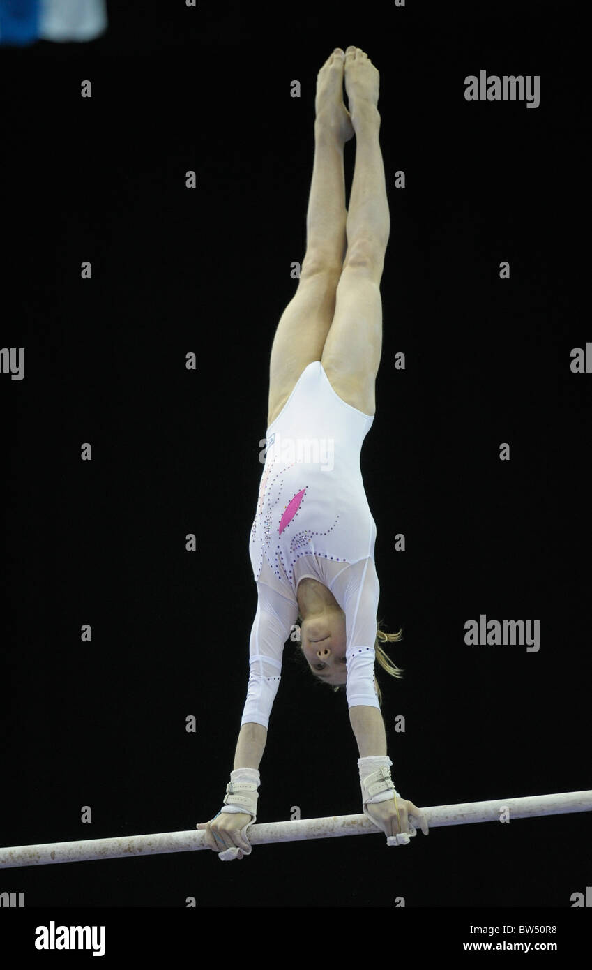 30.4.10 European Gymnastics Championships .Junior All Round Finals.KOMOVAVictoria of Russia gold medal winner. - Stock Image