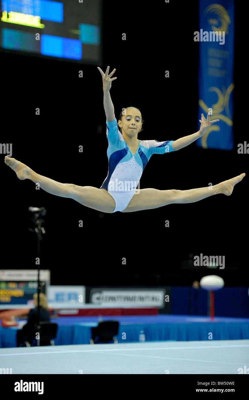30.4.10 European Gymnastics Championships .Junior All Round Finals.IORDACHELarisa of Romania.. - Stock Image
