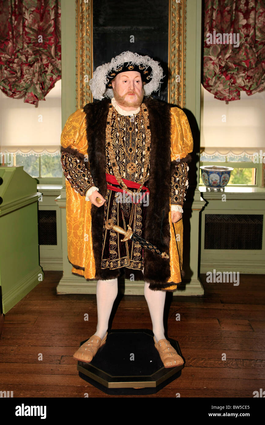 Wax dummy of King Henry VIII at Warwick Castle - Stock Image
