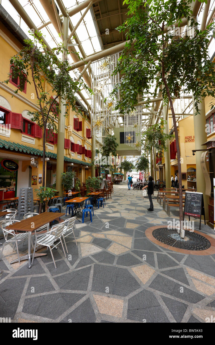 Far East Square shopping mall, Chinatown, Singapore - Stock Image