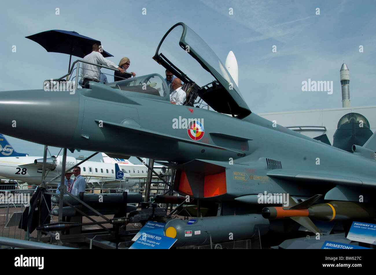 Paris, Fra-nce, Lockheed Martin Fighter Jet, Aeroplanes on Display,  Paris Air Show at the Bourget Airport, - Stock Image