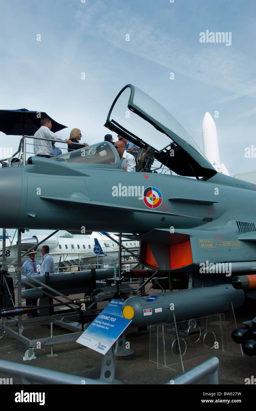 Paris, Fra-nce, Trade Show, Lockheed Martin Fighter Jet, Aeroplanes on Display,  Paris Air Show at the Bourget Airport, - Stock Image