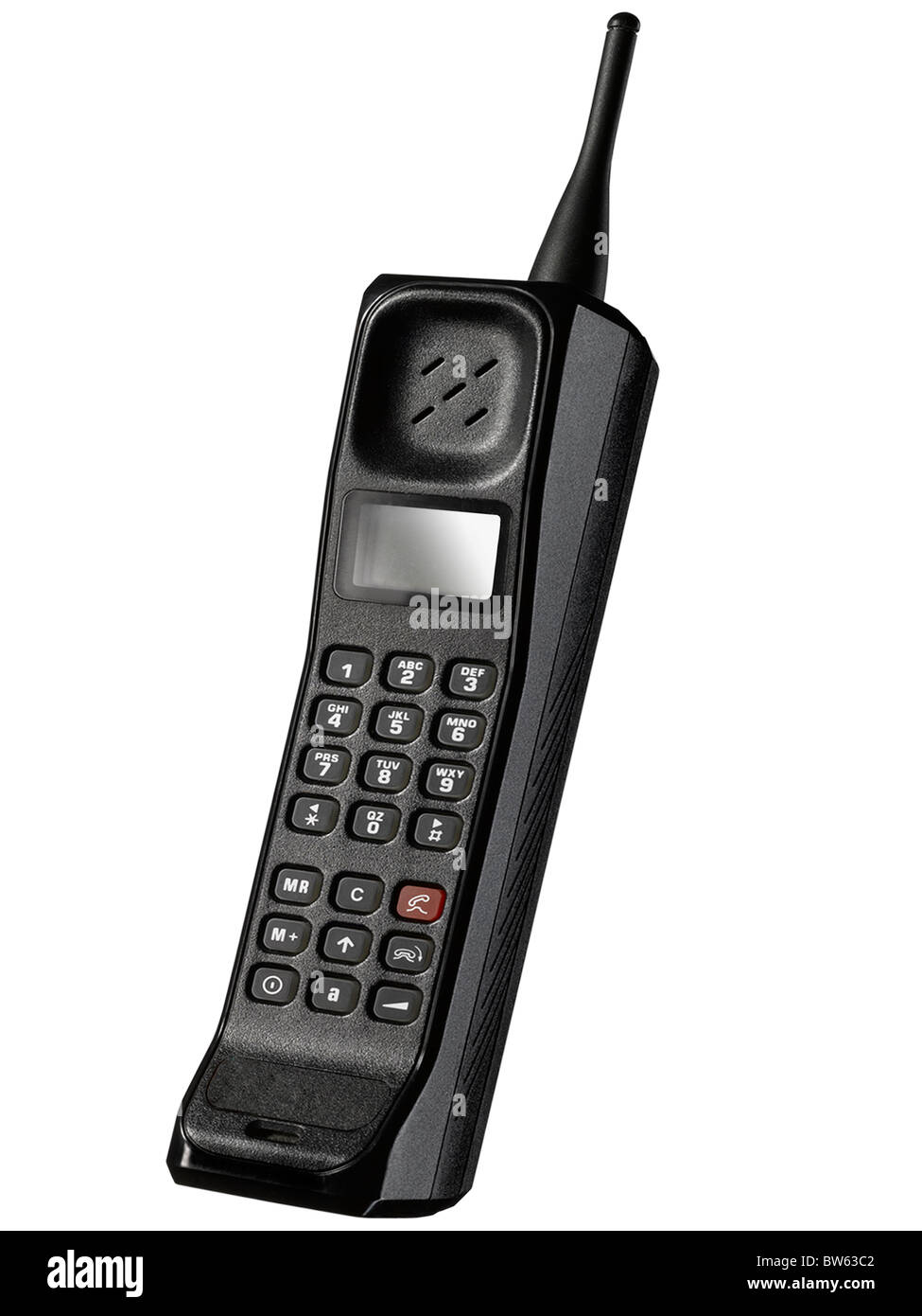 An old fashioned mobile phone - Stock Image
