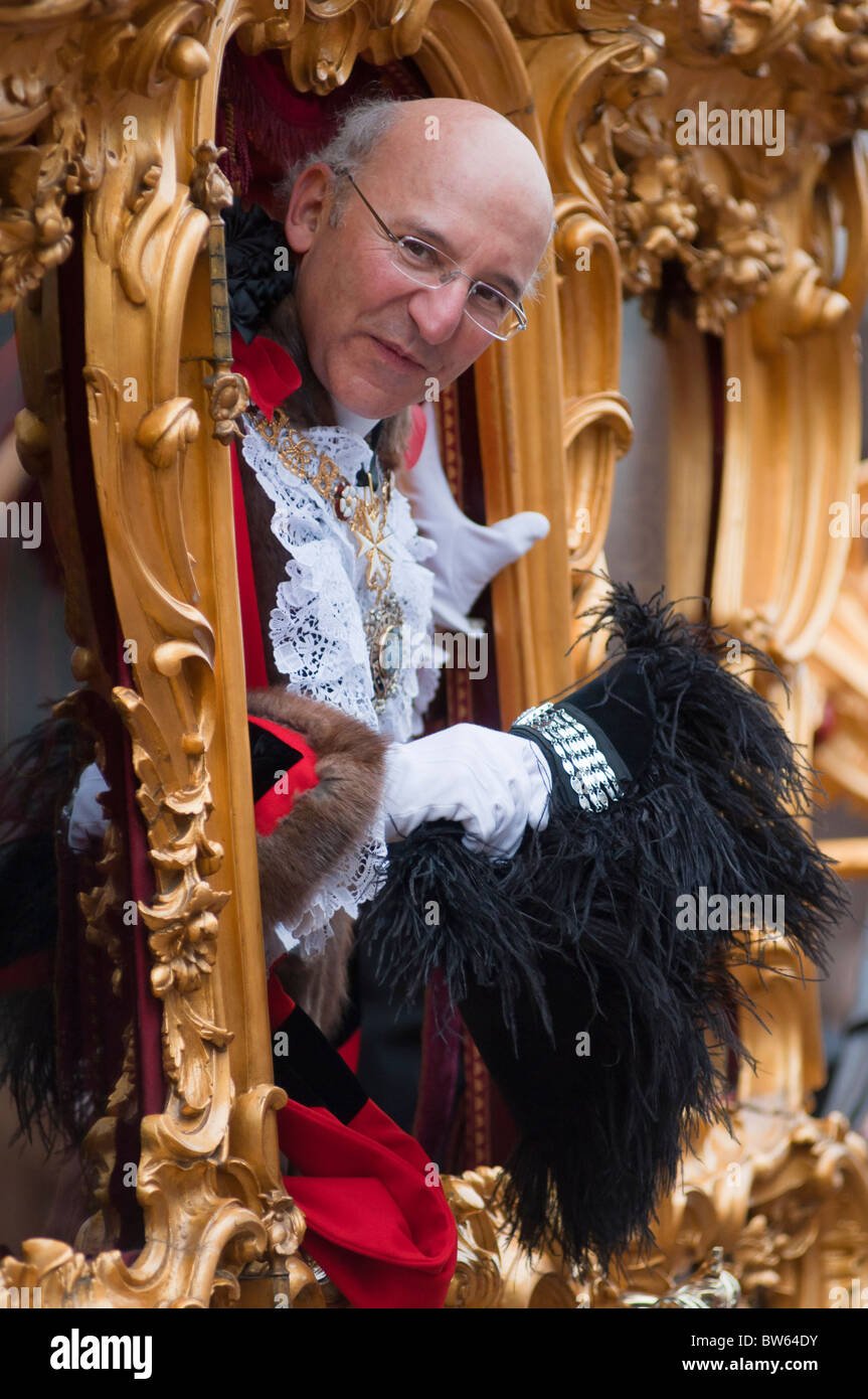 Michael Bear, Lord Mayor of London at is inauguration during the 2010 show. - Stock Image