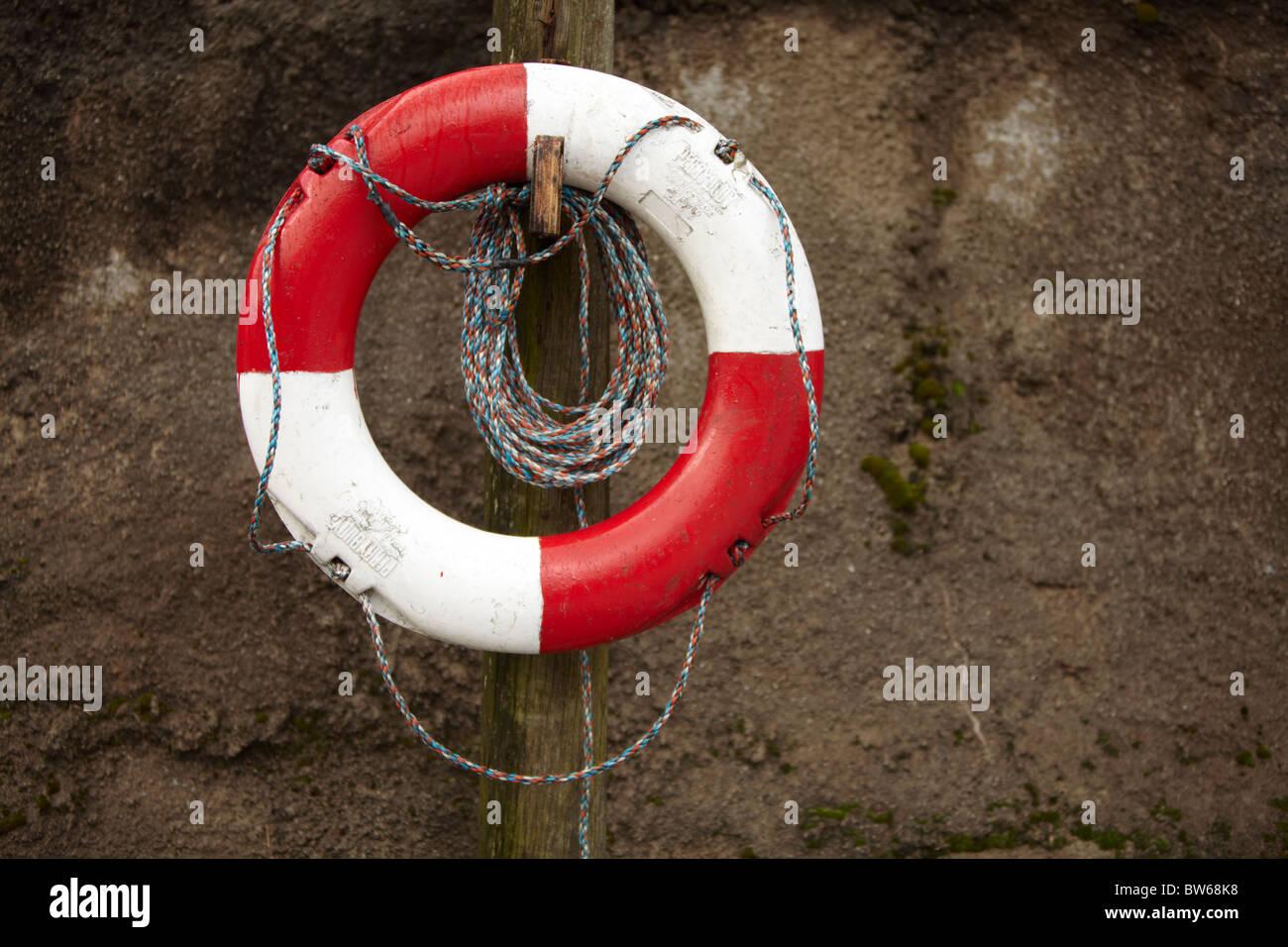 Life saver ring landscape format - Stock Image