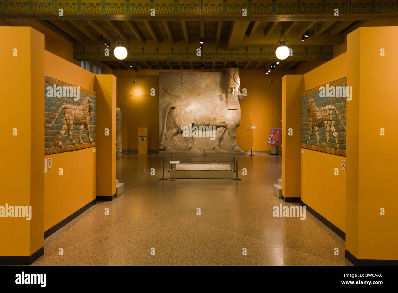 ancient Near East gallery, Oriental Institute, University of Chicago's archeology museum - Stock Image