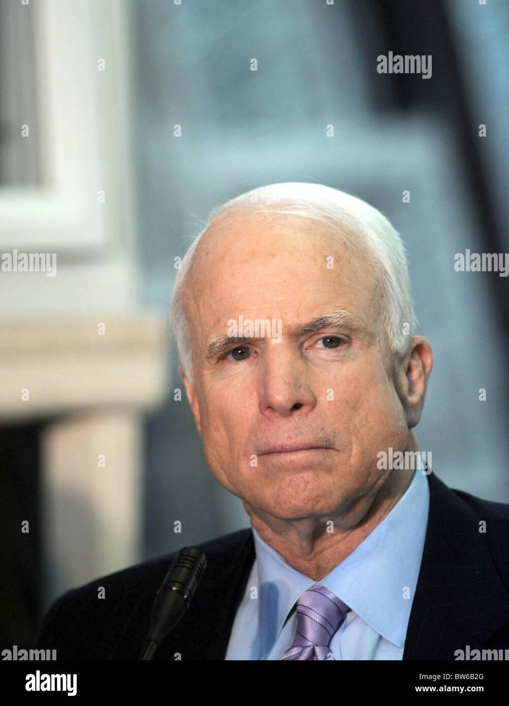 John McCain Presidential Campaign Stop in Brooklyn - Stock Image