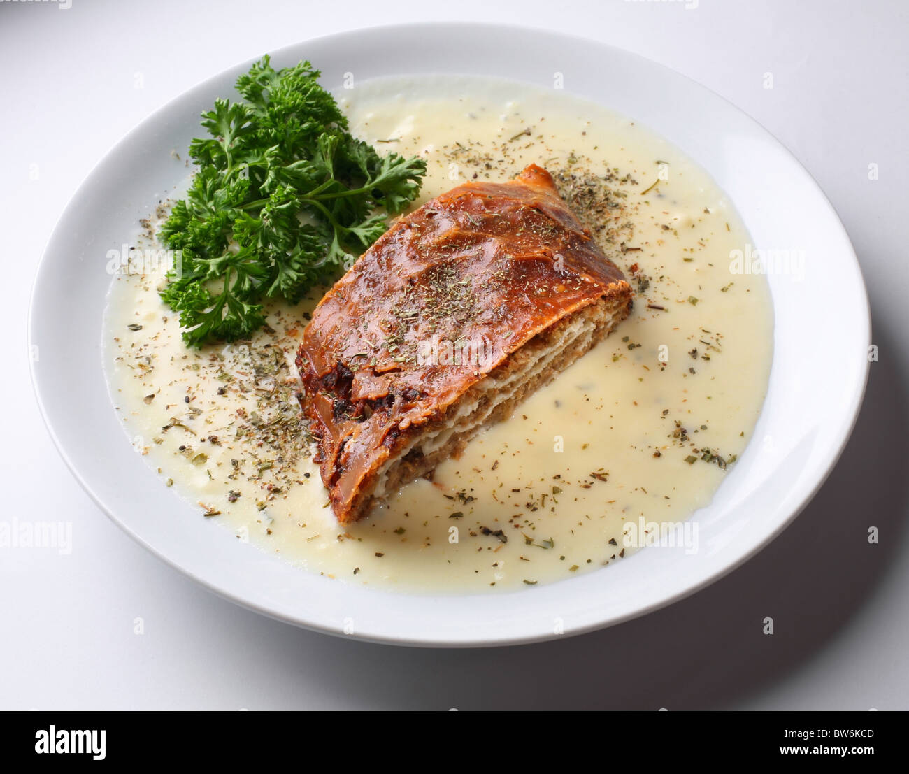 pasty with a meat - Stock Image