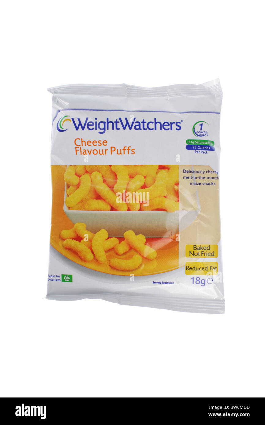 Low Fat Cheese Puffs - Stock Image