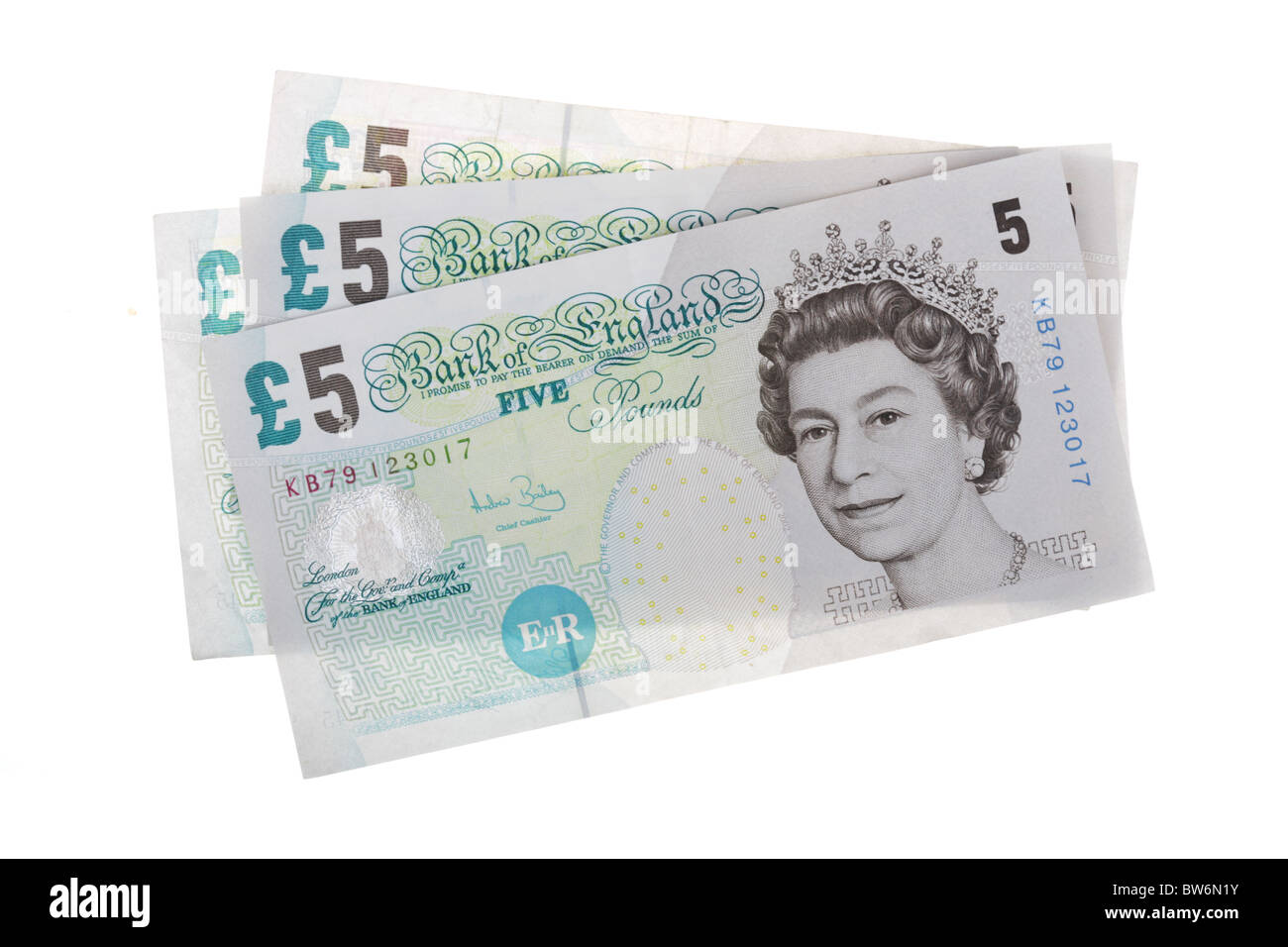 Five Pound Notes - Stock Image