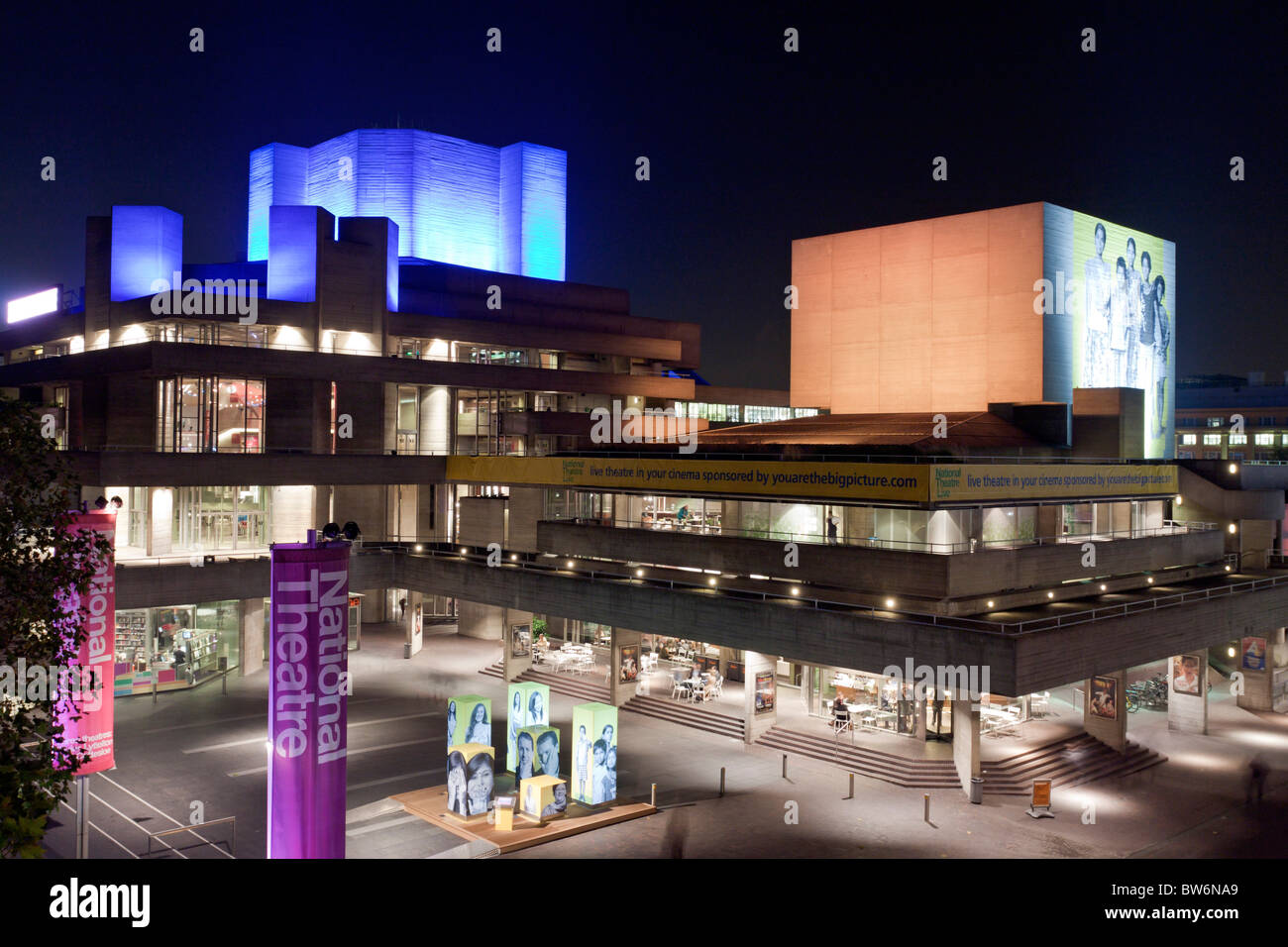 National Theatre - South Bank - London - Stock Image