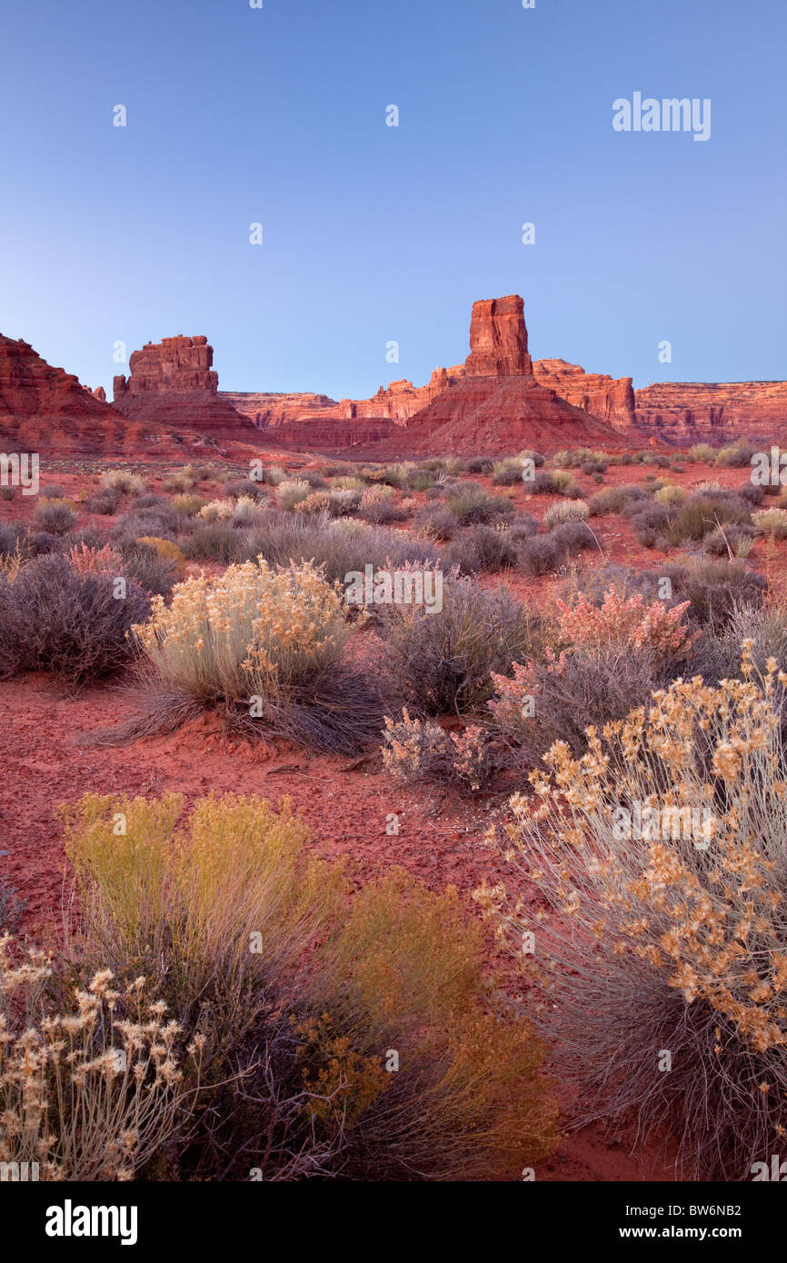 sandstone formations, Valley of the Gods, Bureau of Land Management, Utah - Stock Image