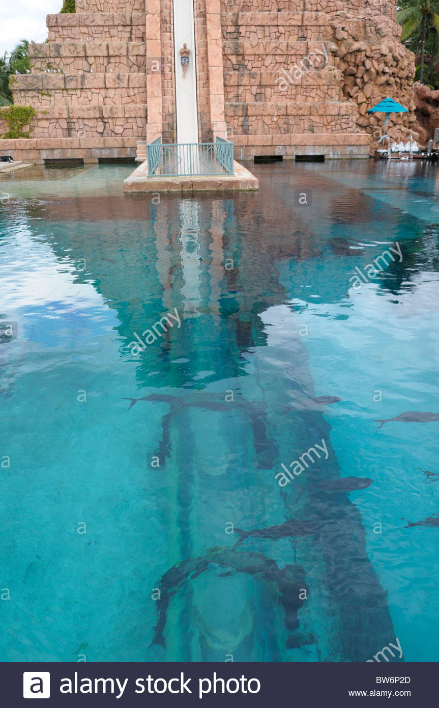 stock image underwater water slide atlantis14 underwater
