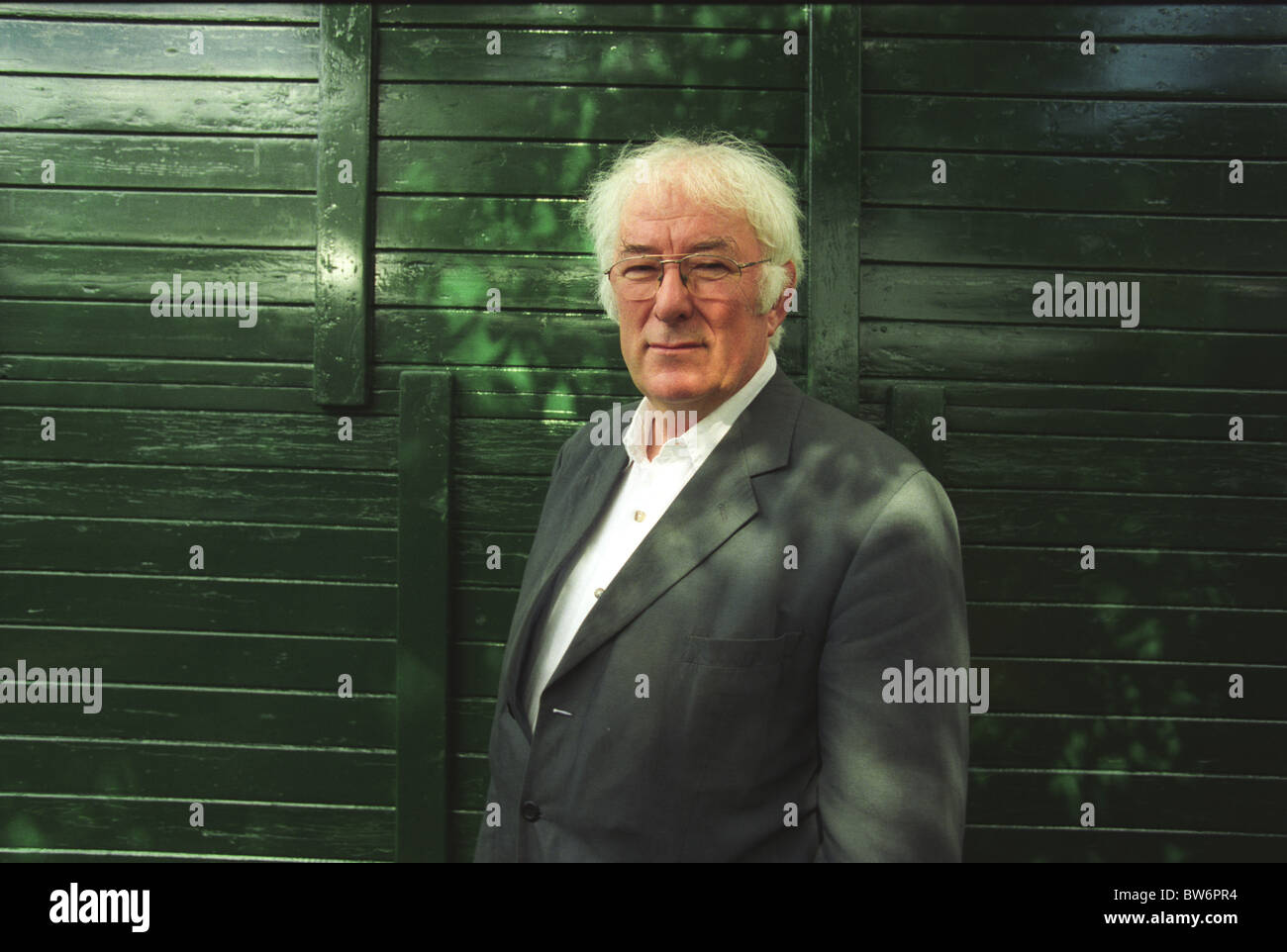 Irish author, writer, lecturer and poet Seamus Heaney. Winner of Nobel Prize for Literature. - Stock Image