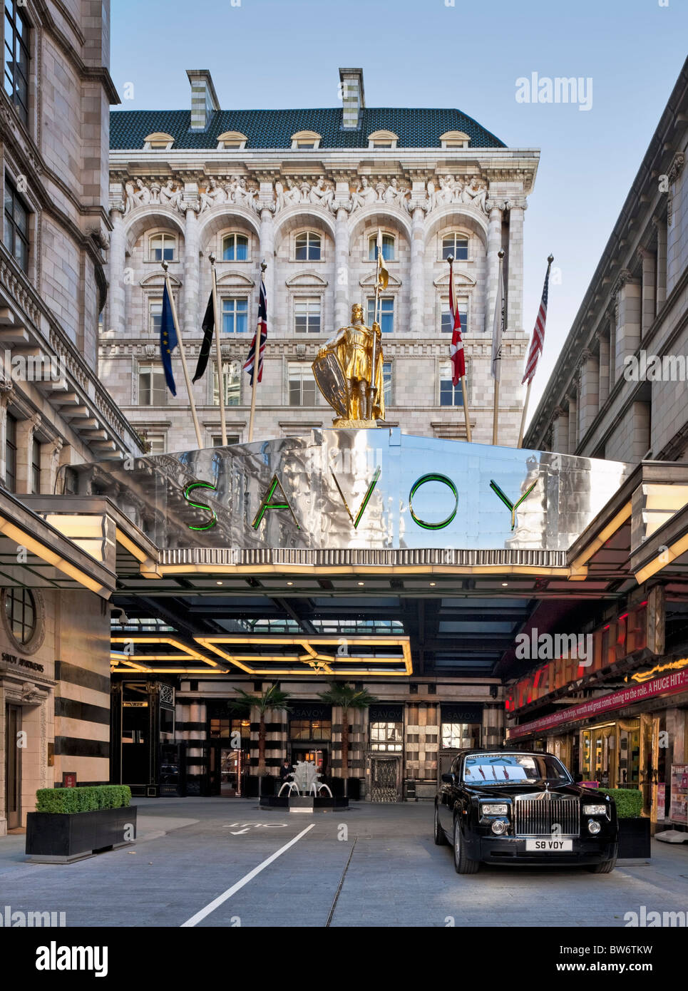 The refurbished Savoy Hotel in London - reopened in October 2010. - Stock Image