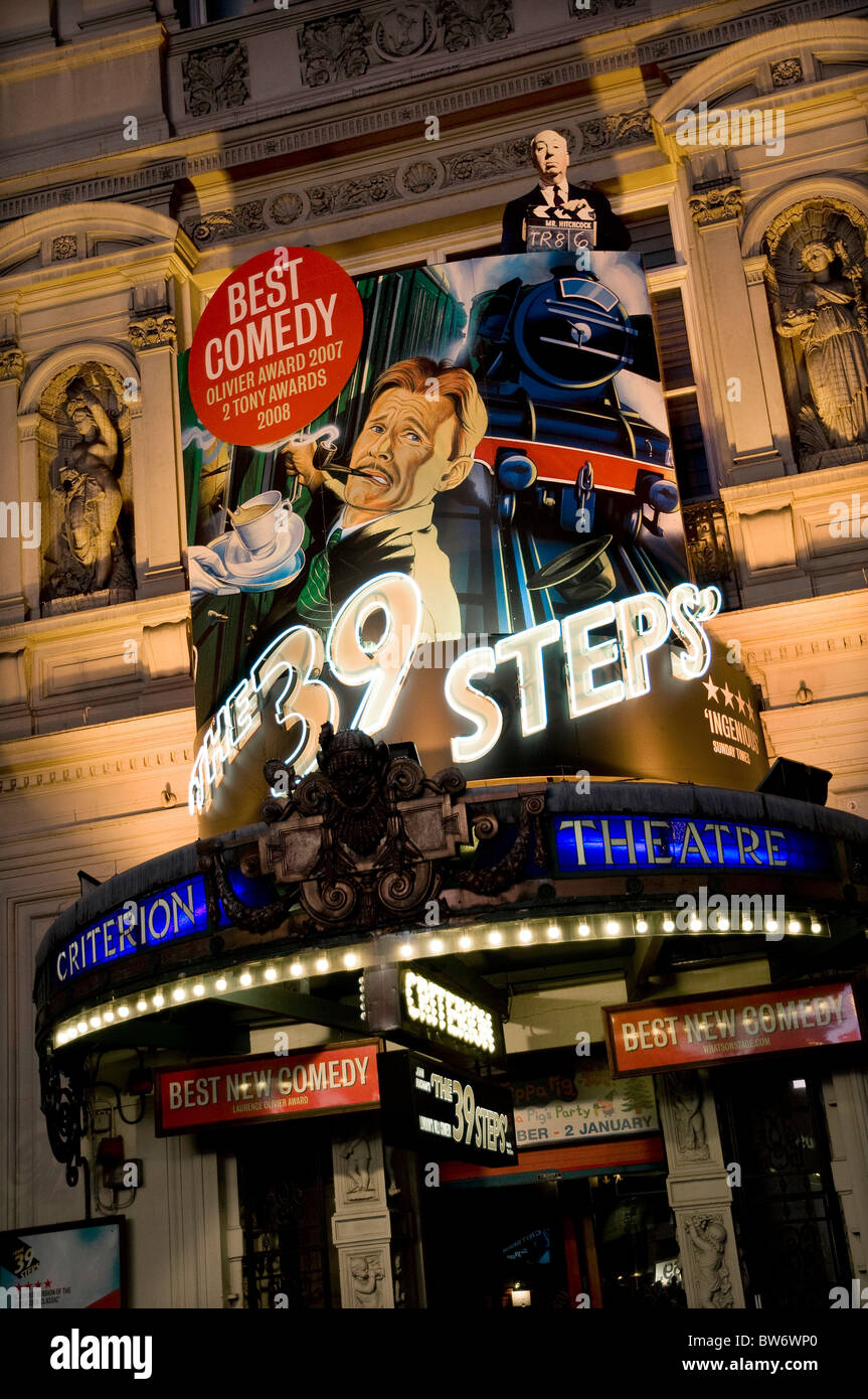 39 steps show, criterion theatre, piccadilly circus, london, england - Stock Image