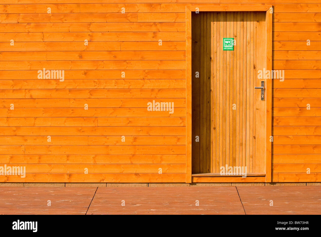 door entrance to a WC - Stock Image