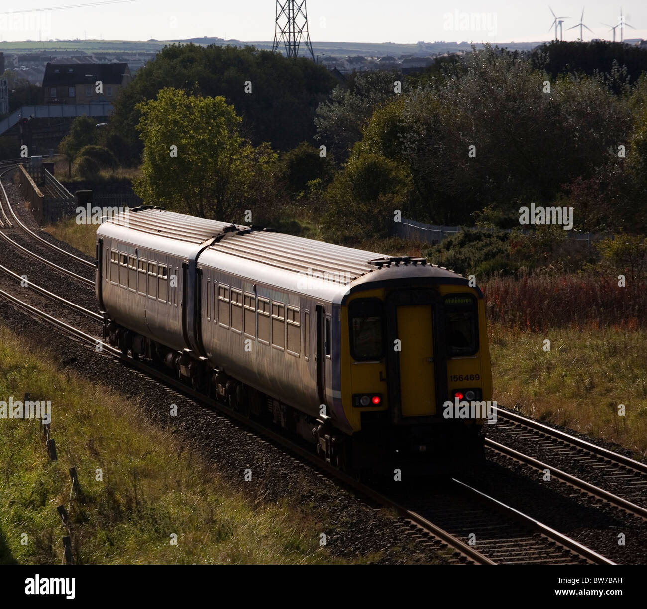 Northern Rail train at Workington, Cumbria, England - Stock Image