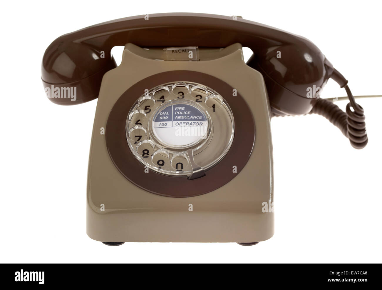 old vintage retro gpo 746 british telecom rotary dial phone from the 1970s  uk united kingdom
