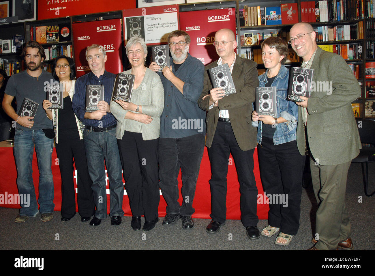 Colin Farrell and Authors Discuss the Novel CLICK - Stock Image