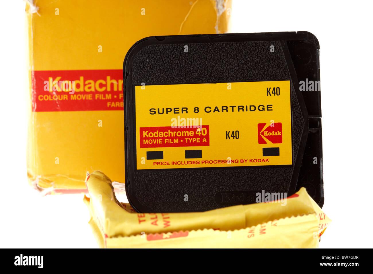 kodak kodachrome super8 cine movie film cartridge Stock