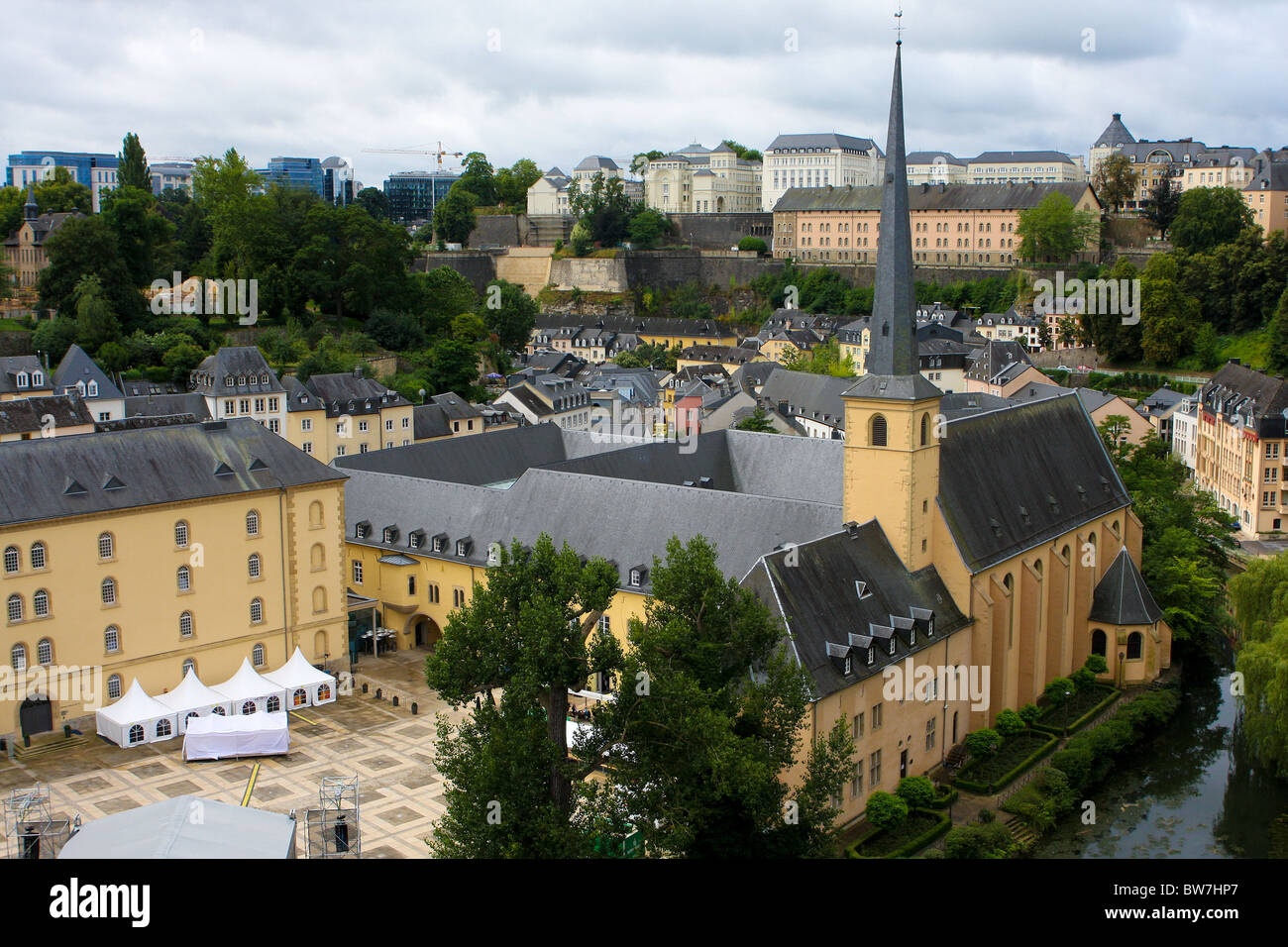 View on old Luxembourg city - Stock Image