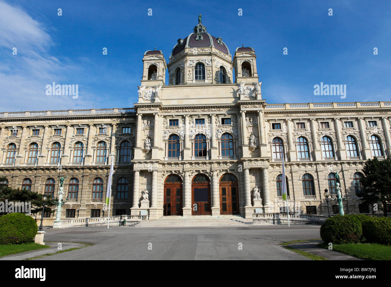 """The Kunsthistorisches Museum (English: """"Museum of Art History"""", also often referred to as the """"Museum of Fine Arts"""") Stock Photo"""