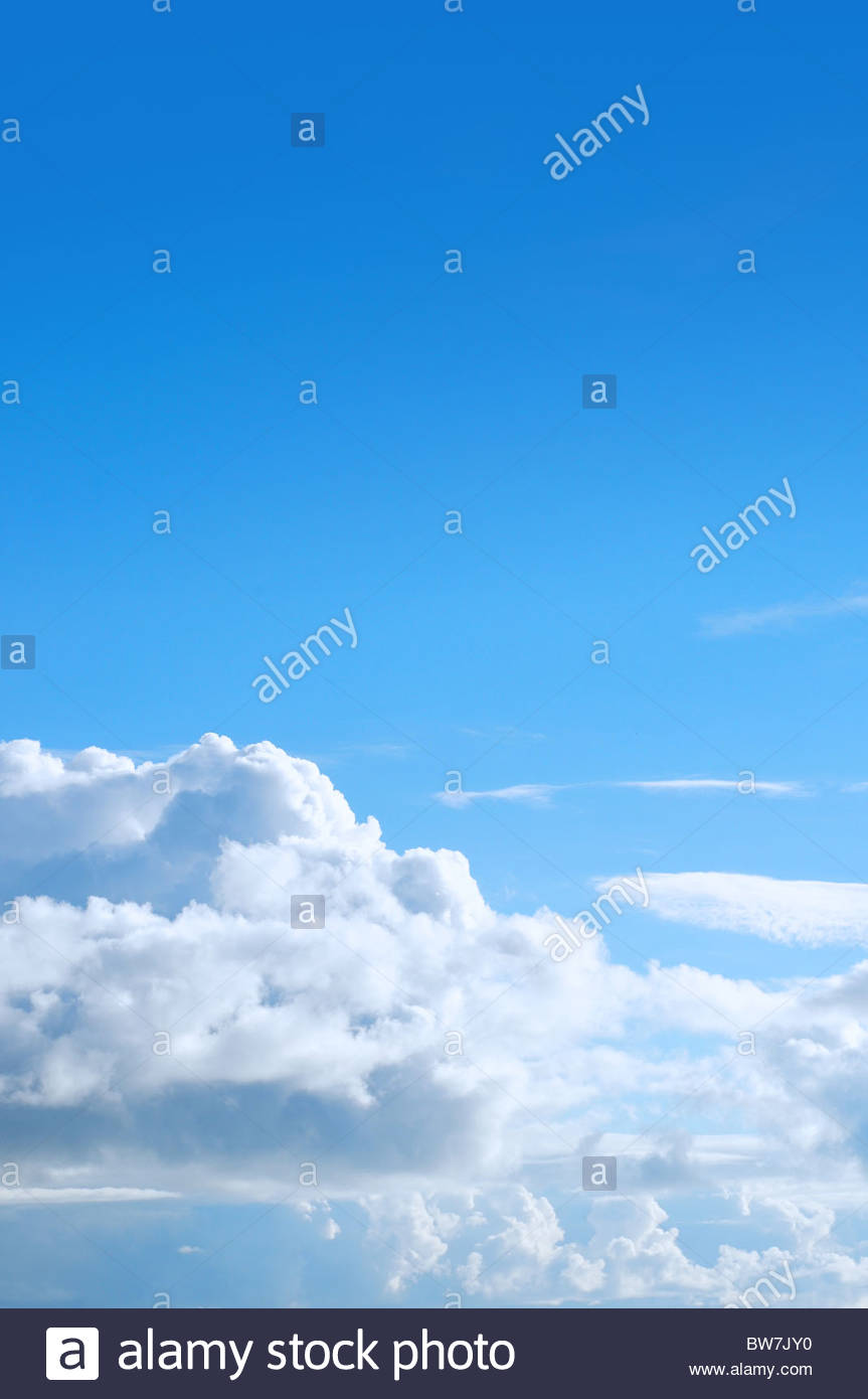 Blue sky and puffy cloud Stock Photo