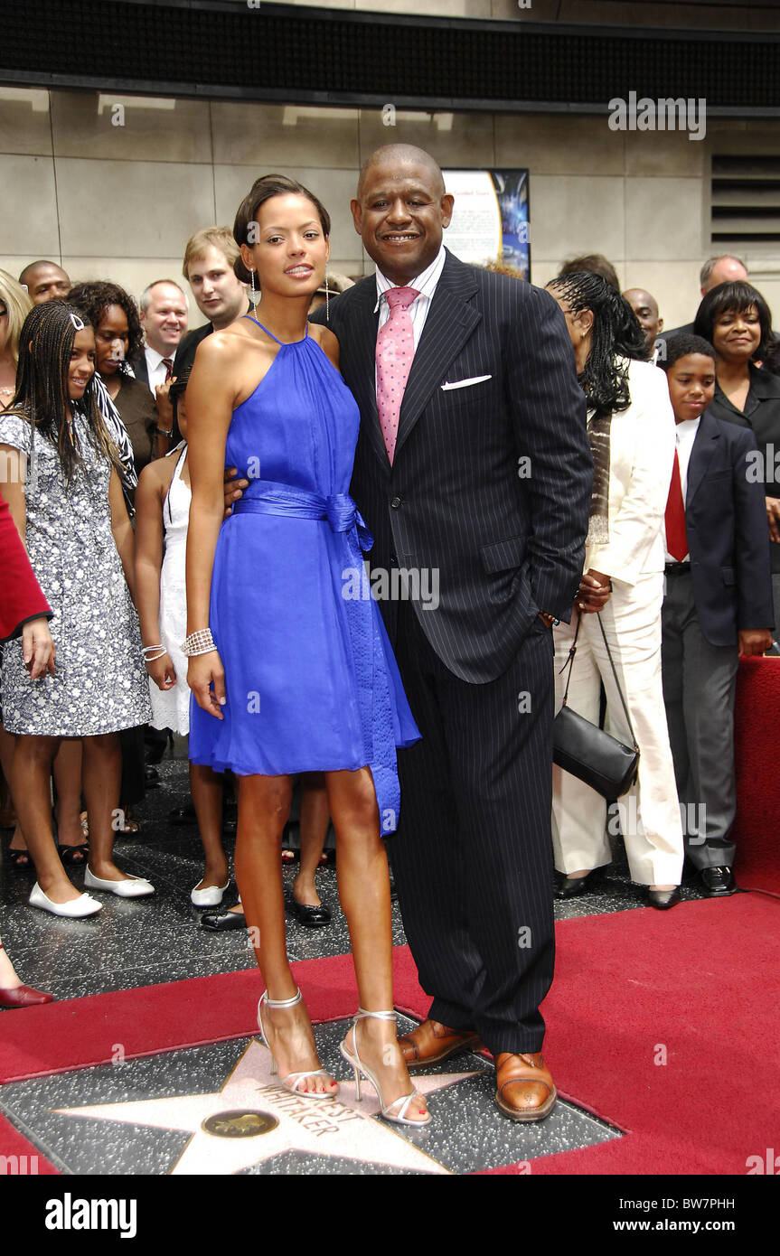 STAR ON THE HOLLYWOOD WALK OF FAME for Forest Whitaker - Stock Image