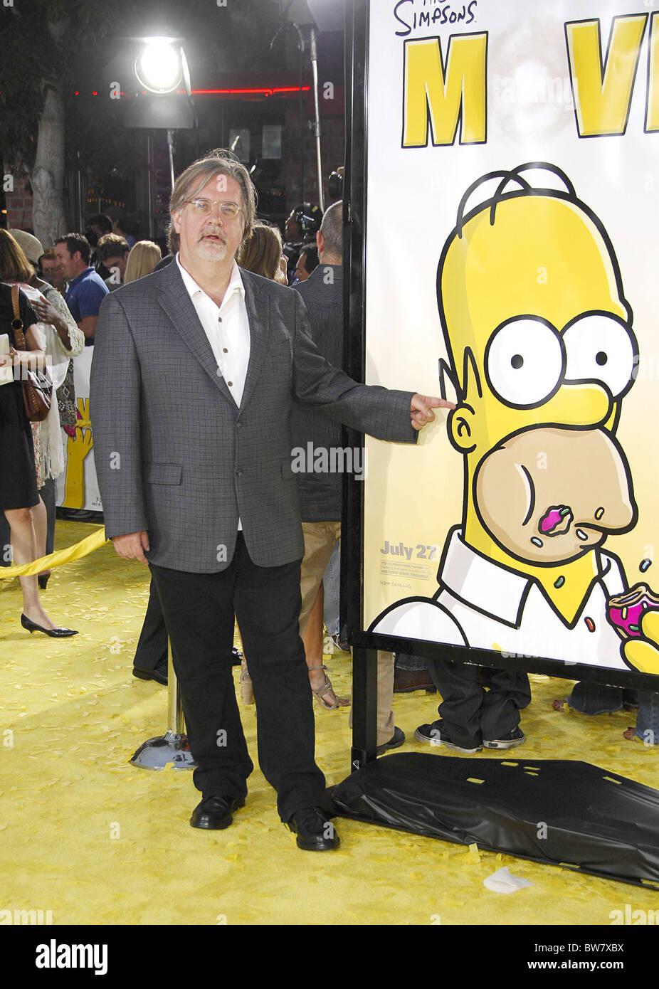 The Simpson S Movie Premiere Stock Photo Alamy