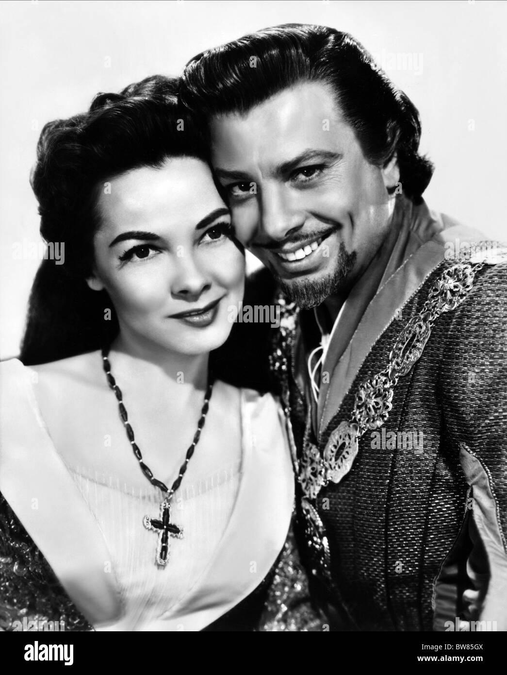 KATHRYN GRAYSON & ORESTE KIRKOP THE VAGABOND KING (1956) - Stock Image