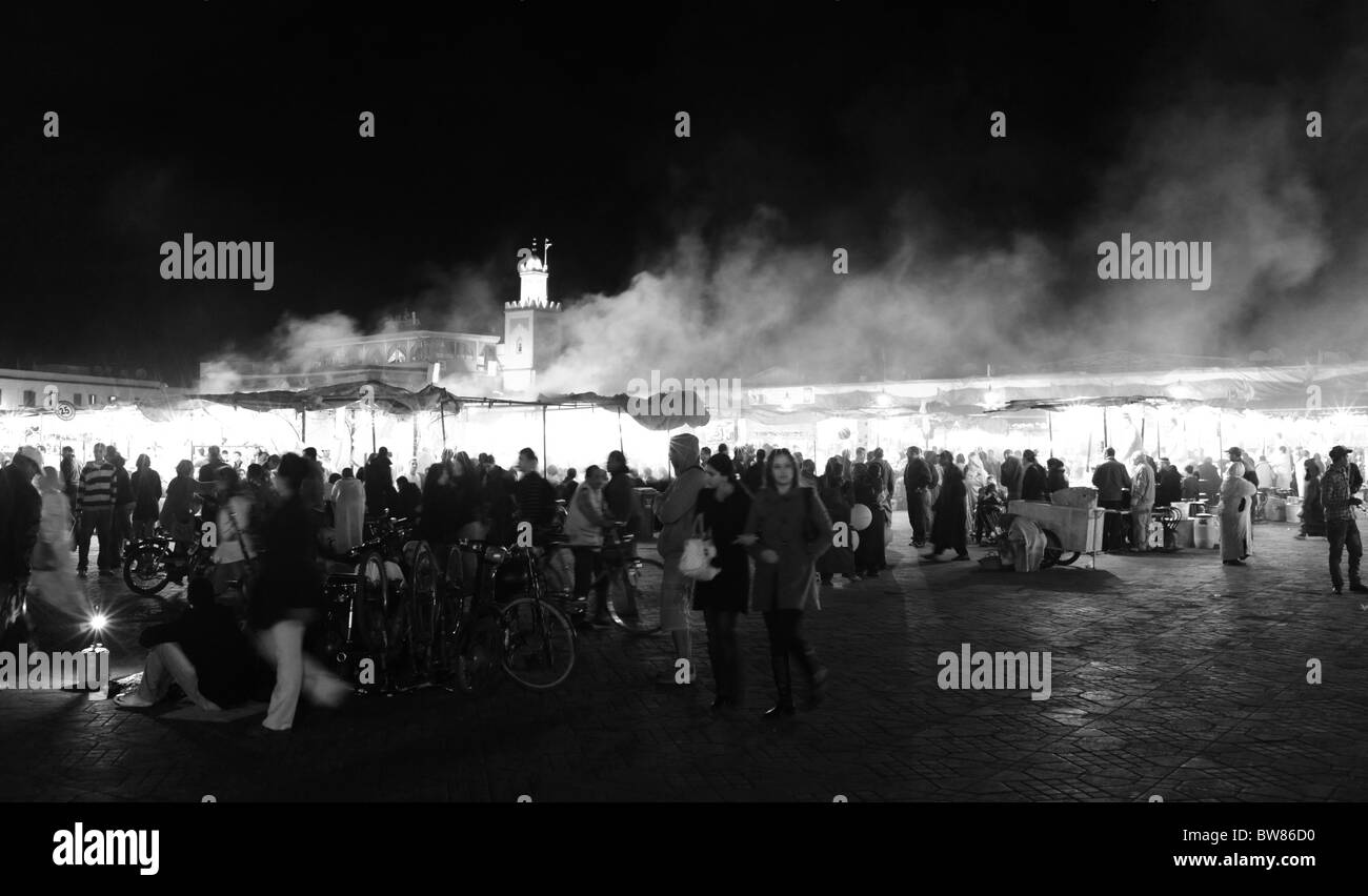 Steam And Smoke Rises From The Fast Food Stalls And Restaurants