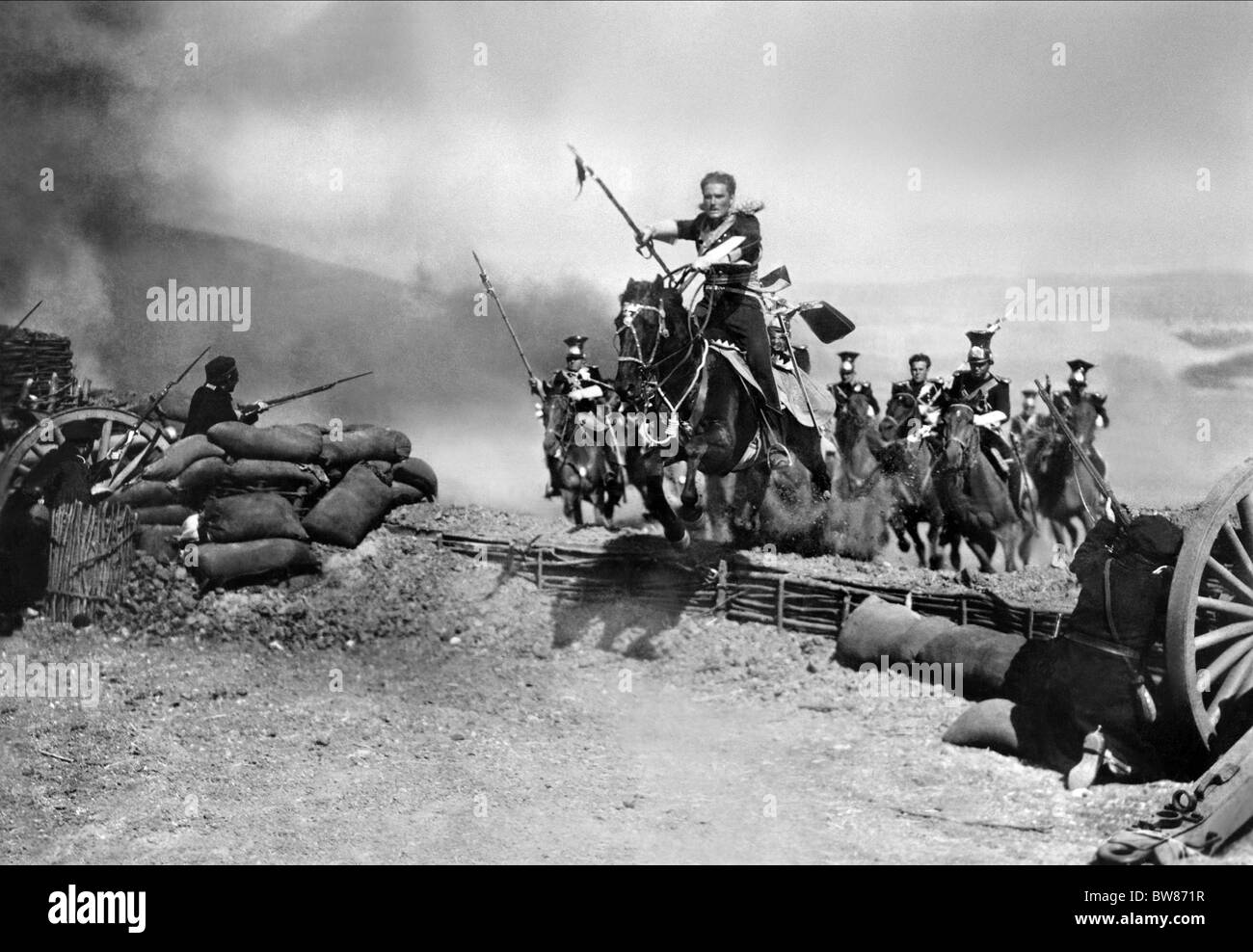 ERROL FLYNN THE CHARGE OF THE LIGHT BRIGADE (1936) - Stock Image