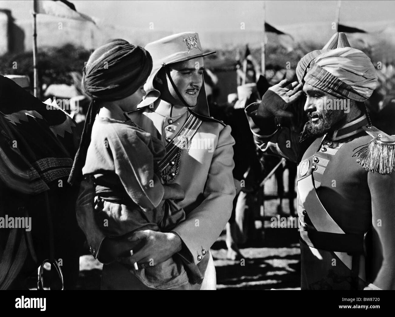 SCENE WITH ERROL FLYNN THE CHARGE OF THE LIGHT BRIGADE (1936) - Stock Image