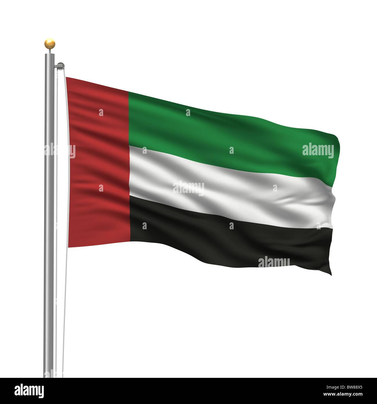 Flag of the United Arab Emirates - Stock Image
