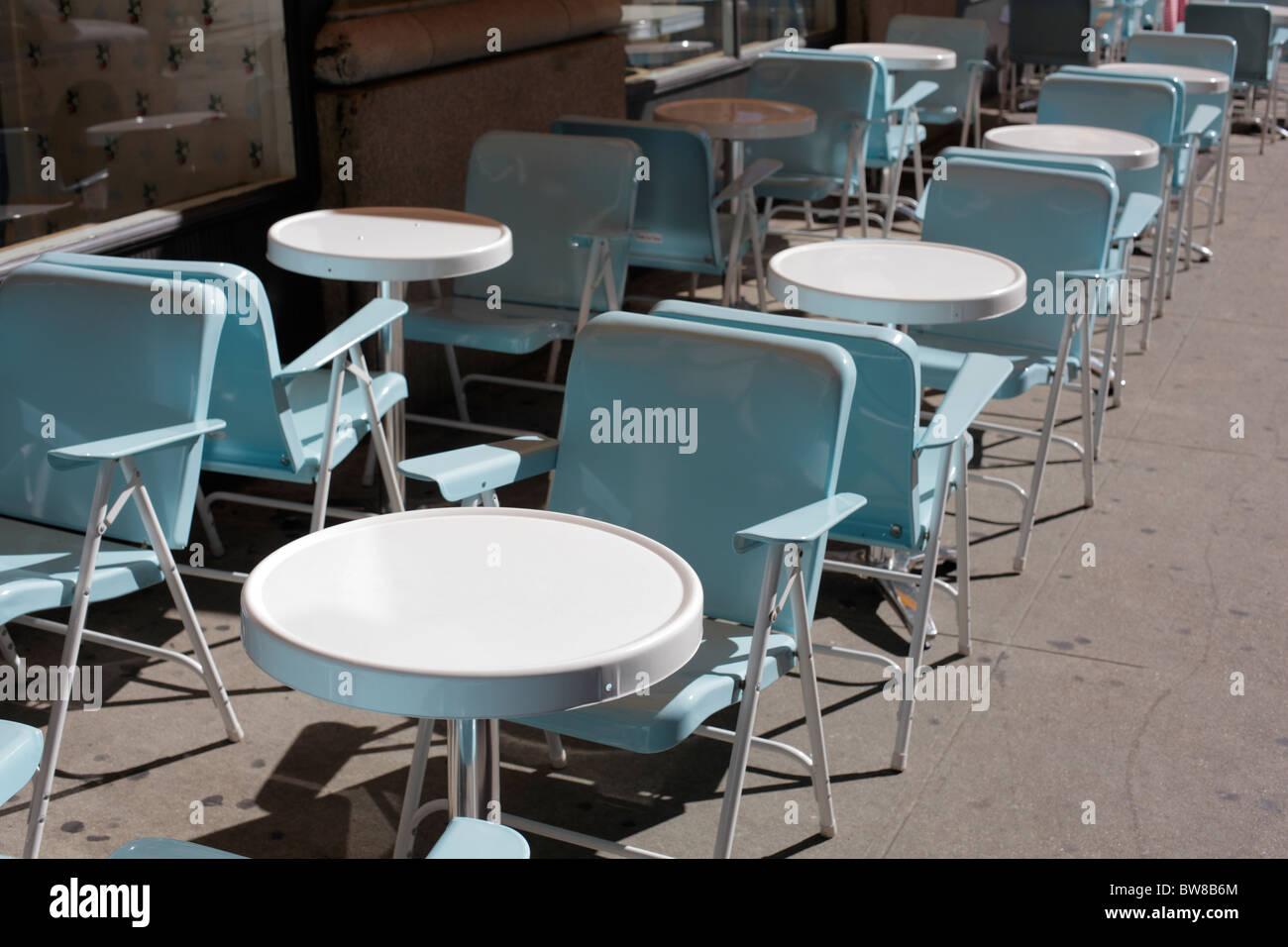 sidewalk cafe - Stock Image